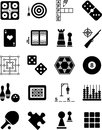 Games icons Royalty Free Stock Image