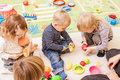 Games in kindergarten Royalty Free Stock Photo