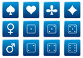 Games square icons set. Royalty Free Stock Image