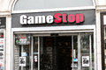 Gamestop videogame store in a street Stock Photography