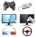 Gaming icons Stock Image