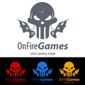 Gaming logo concept skull signs and symbols Royalty Free Stock Images