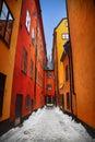 Gamla Stan Stockholm street Royalty Free Stock Photo