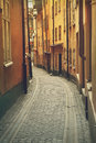 Gamla stan stockholm street narrow in Royalty Free Stock Photography