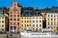 Gamla stan stockholm sweden waterfront houses in Stock Images