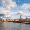Gamla stan in stockholm view over the old town sweden Stock Image