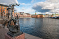 Gamla stan in stockholm view over the old town sweden Stock Photos