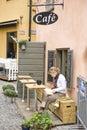 Gamla stan street cafe Royalty Free Stock Images