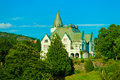 Gamlehaugen mansion old royal palace Bergen, Norway. Royalty Free Stock Photo