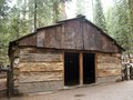 Gamlin cabin this was built in by israel who with his brother thomas filed a timber claim to acres within the grant grove they Royalty Free Stock Images