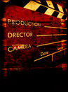 Gammal clapboardfilm Royaltyfria Foton