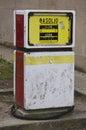 Gammal pump sardinia för gas Royaltyfri Bild