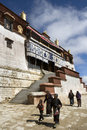 Ganden Monastery in Tibet Stock Photo