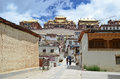 Ganden sumtseling monastery in shangrila china yunnan Royalty Free Stock Image