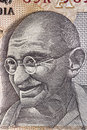 Gandhi on Indian Rupee Note Royalty Free Stock Photo