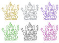 Ganesh collection Stock Image
