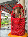 Golden Ganesh  Elephant god statue in hinduism mythology  with g