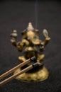 Ganesha on black background