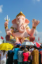 Ganesha park nakhon nayok thailand ganesh and lots of people although it s very hot Stock Images