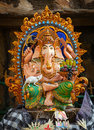 Ganesha Religious Statue on the street Royalty Free Stock Photo