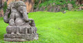 Ganesha statue in a beautiful mountain garden