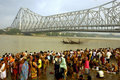 Ganga Fluss-Verunreinigung in Kolkata. Stockfotos