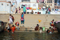 Ganga River at Benaras Stock Photography