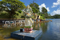 Ganga talao temple mauritius may ganesha statue at grand bassin hindu temples of mauritius shown on may grand bassin is a sacred Stock Photos