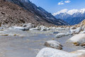 Ganges river the source of the in uttarakhand india Royalty Free Stock Images