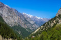 Gangotri valley the in the indian himalayas near the source of the sacred ganges river Stock Images