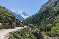 Gangotri valley the in the indian himalayas near the source of the sacred ganges river Royalty Free Stock Photos