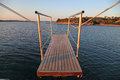 Gangplank of the sailboat yacht and sea view on sunset Royalty Free Stock Photos