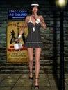 Gangsta Babe Royalty Free Stock Photo