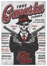 Gangsta magazine concept Royalty Free Stock Photo