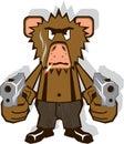 Gangsta Monkey Royalty Free Stock Photo