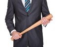 Gangster with baseball bat Royalty Free Stock Image