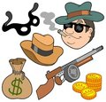 Gangster collection Royalty Free Stock Photography