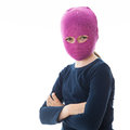 Gangster girl wearing a mask Stock Image