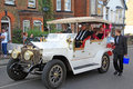 Gangster mob car photo of a vintage driving in street carnival in whitstable kent photo taken st august ideal for festivals Royalty Free Stock Photo