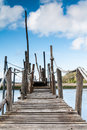 Gangway over the water Stock Image
