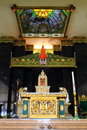 Ganjuran church interior of famous a fusion of christianity javanese kraton and hinduism design Stock Image