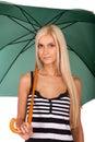 Ganska haired ståendekvinnabarn Royaltyfri Fotografi