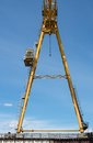 Gantry crane against the blue sky background Royalty Free Stock Images