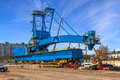 Gantry crane big in port of gdynia poland Royalty Free Stock Photography