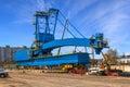 Gantry crane big in port of gdynia poland Royalty Free Stock Photography