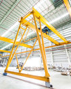 Gantry crane in factory thailand Stock Images