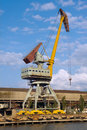 Gantry crane in the harbor Royalty Free Stock Images