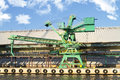 Gantry crane photo of cranes in gdańsk poland Royalty Free Stock Photography