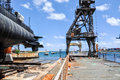Gantry Crane Section: Indian Ocean Port Royalty Free Stock Photo