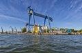 Gantry crane in the yard shipyard gdansk poland Stock Photography